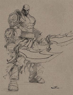 God of War Kratos+Sketch