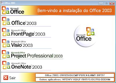 Microsoft Office 2003 + FrontPage 2003 Português (link único e direto)