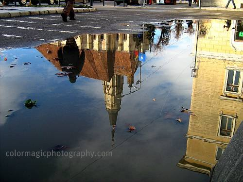 Saint Michael church reflection
