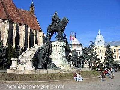 Statue of Matthias Corvinus in Cluj-Napoca