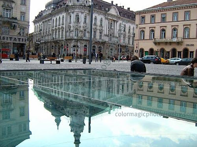 Continental hotel of Cluj in the mirror