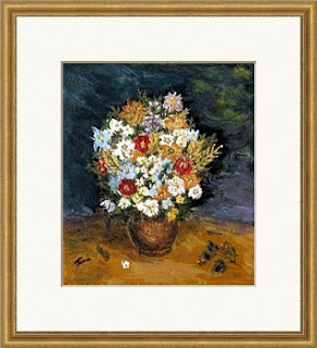 still life with meadow flowers in a vase-oil painting