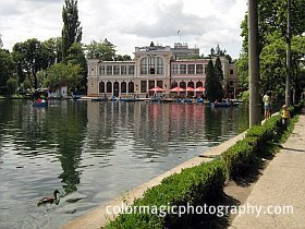 Central Park's lake in Cluj Napoca