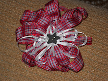red, white & blue gingham bow