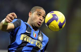 Adriano, attaccante dell'Inter