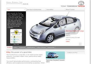 Toyota European website
