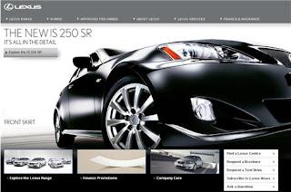 Lexus UK website