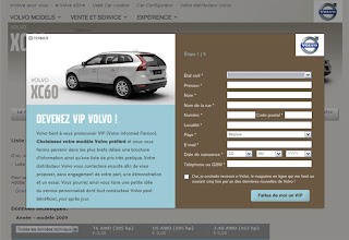 Volvo takes action based on visitor behavior and invite potential leads to request a brochure