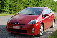 The car: my Toyota Prius III red