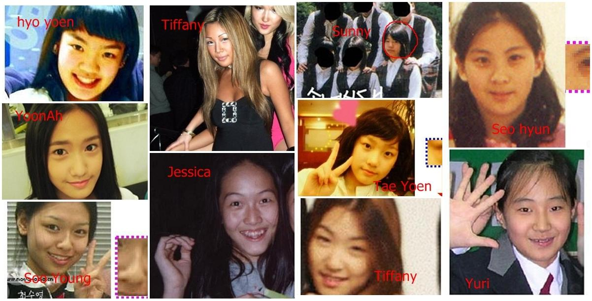 SNSD Girls Generation Sunny before and after some of them are not using