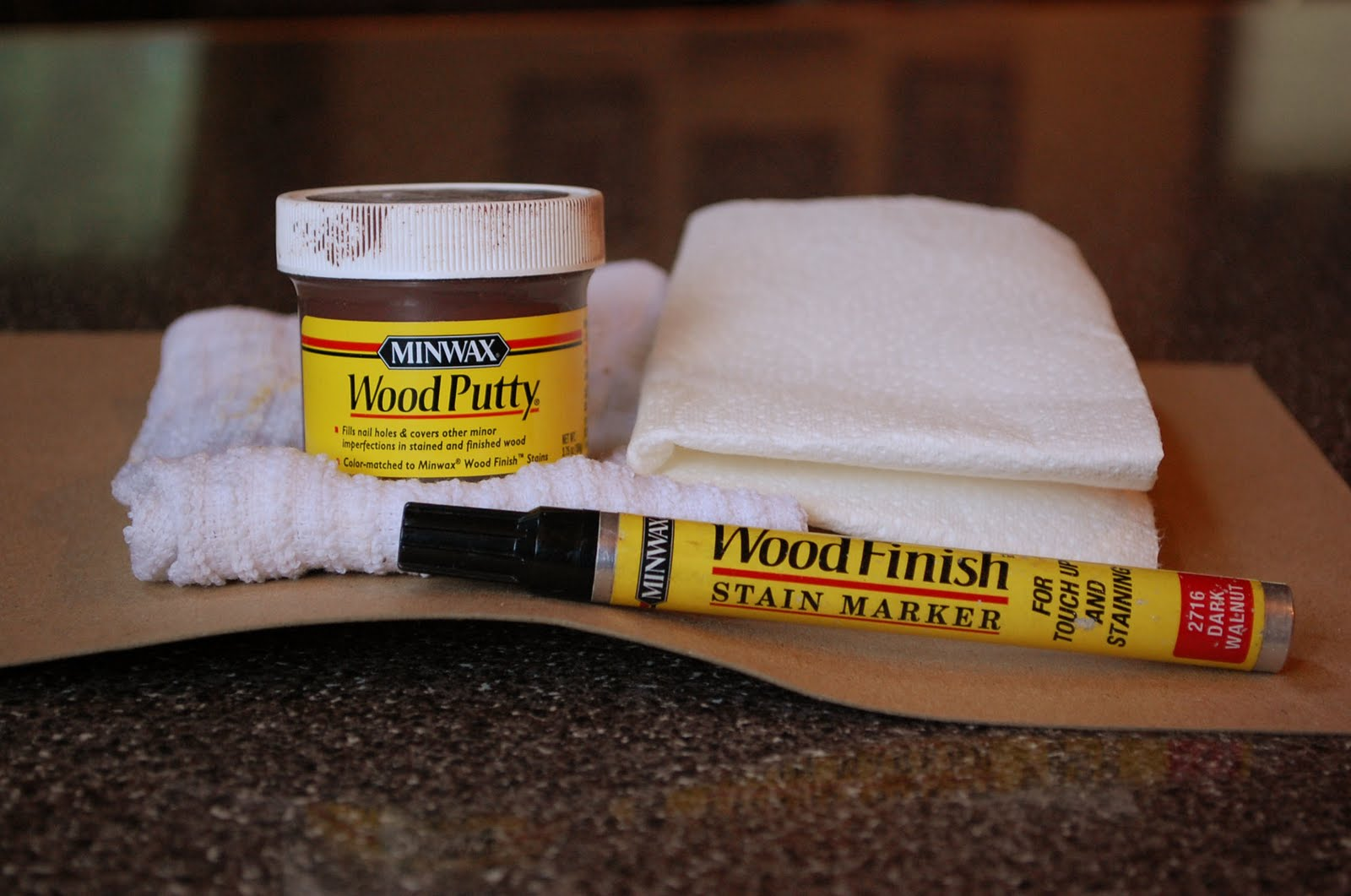 how to make matching wood putty