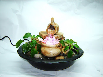 Fuente de Agua Feng Shui Vasija + Flor de loto *ARTENORA*