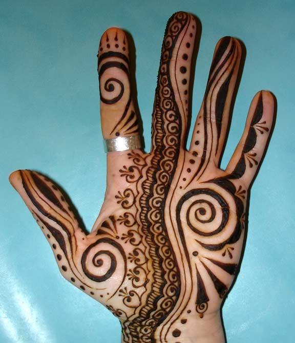 Arabic Mehndi For Right Hand : Mehandi designs bridel design arabic