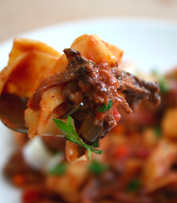 food is luv: short rib ragu w/ papparadelle