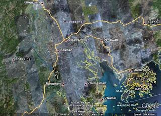 Asia Ecopreneur A Weekend In Zhaoqing - Zhaoqing map