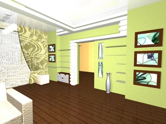 Дизайн-проект однокомнатной квартиры на Позняках, Киев