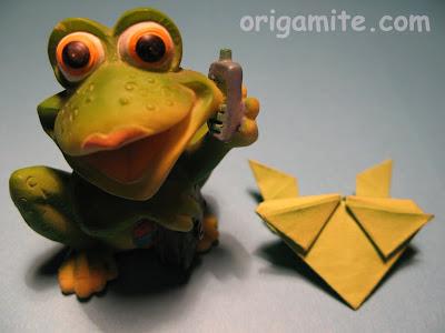 оригами frog