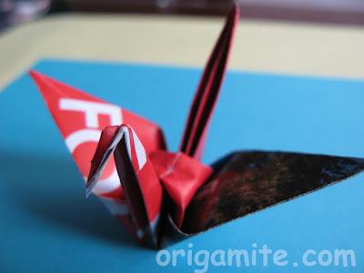 оригами жерав