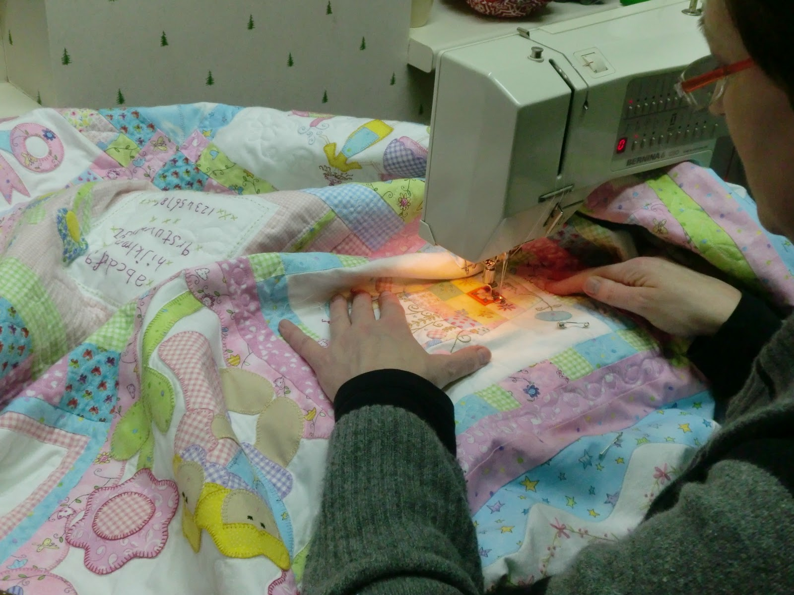 tijdens het naaien bepalen mijn handen de steeklengte ik heb gemerkt