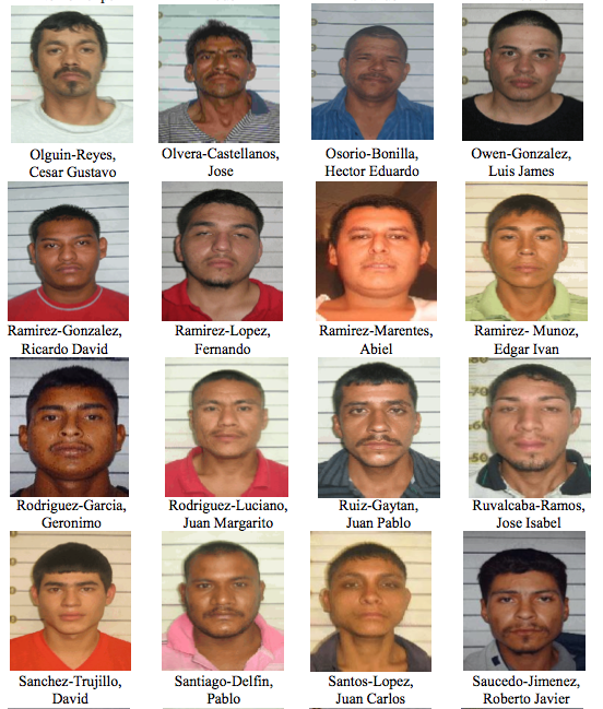 Today Blog Del Narco publishes the identities of the men who escaped justice