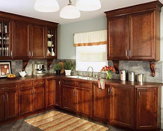 Photos of Cherry Cabinets and White Granite Counters