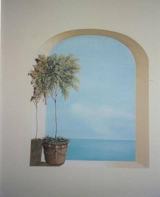 لوحات جدارية ابداعية Wall-drawings14