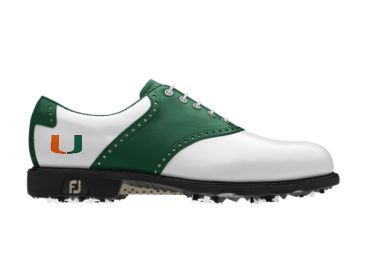 UM Hurricanes golf shoes.