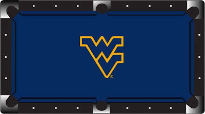 West Virginia University pool table felt.