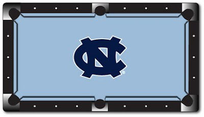 University of North Carolina pool table felt.