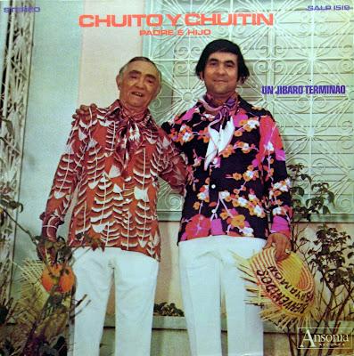 Cover Album of Chuito y Chuitin, padre y hijo - Um Jibaro TerminГЎo,Ansonia