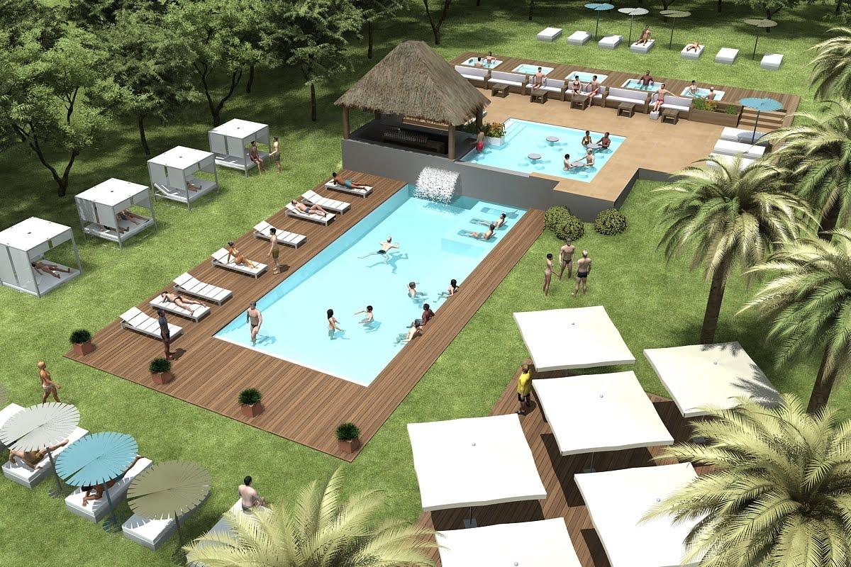 Proyectos de piscinas o spas en 3d lucas gunitec for Piscina 3d