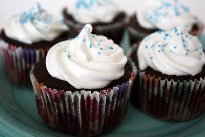 Devil's Food Cupcakes with Fluffy Frosting - Taste and Tell