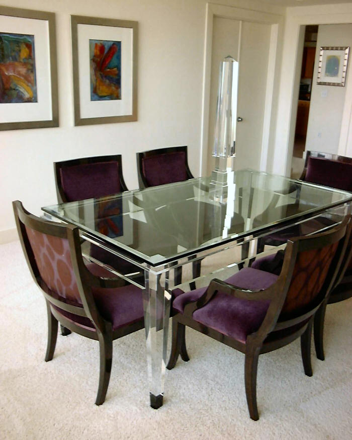 Alkemie lucite acrylic furniture sources for Perspex furniture