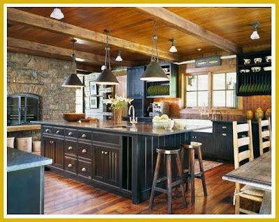 If you have a log home, I think this kitchen would be perfect.
