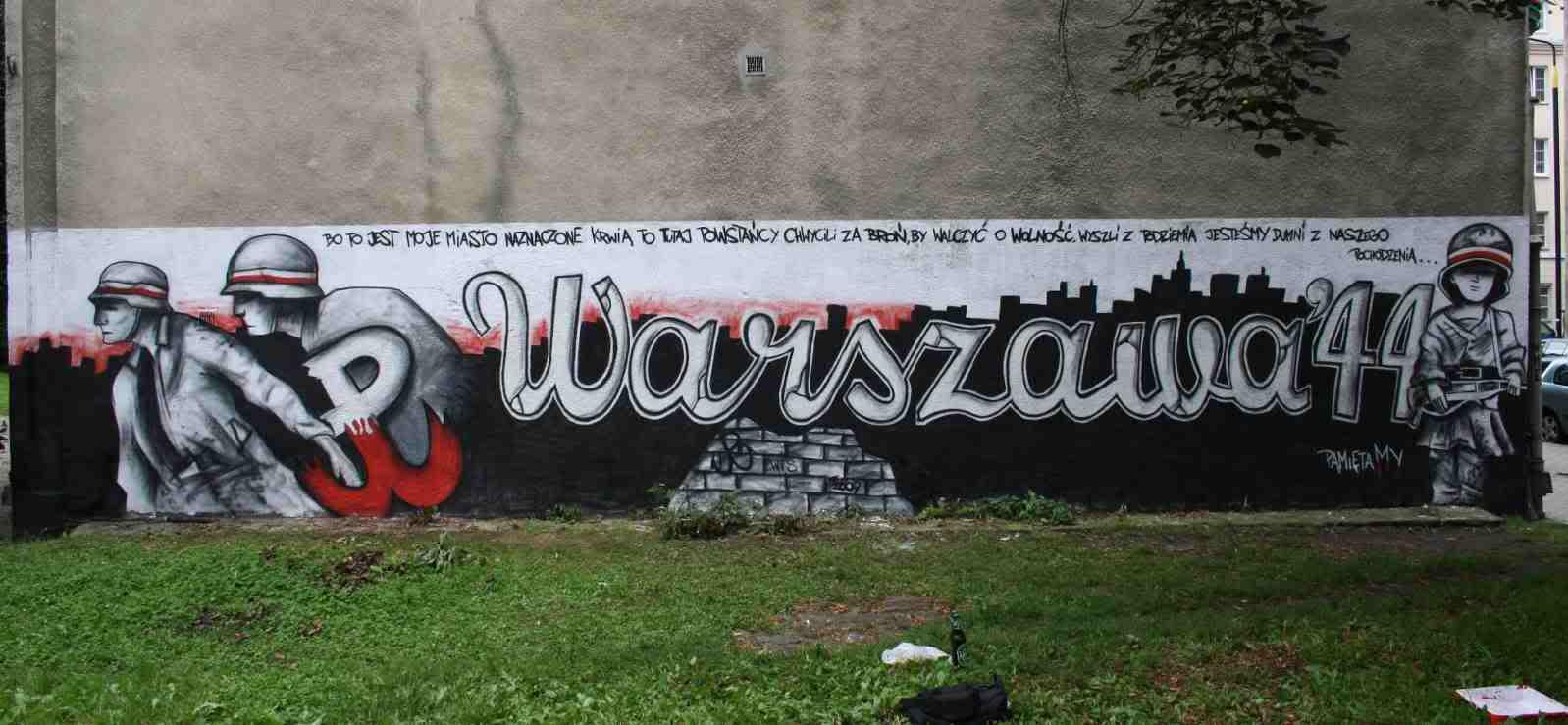 Patriotyczny mural - Warszawa