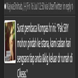 SBY Pindah dari Cikeas ke Istana Beredar di Twitter