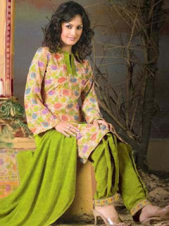 Pakistani Style Shirt Salwar Suit in India, Green Stylish Suits