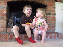 Leo and cousin Sophie, July 2009