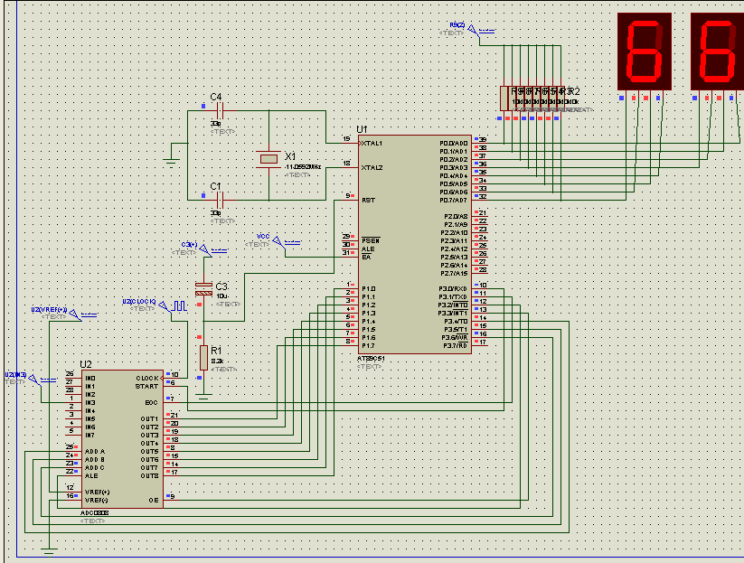 Pirate Birds  Interfacing Adc 0808 With 8051