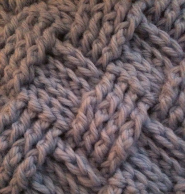 How To Do A Basket Weave Knit : Brownie knits basket weave crochet blanket