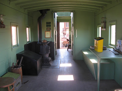 Railroad Caboose Interior http://willitsphotooverflow.blogspot.com/2008_09_01_archive.html