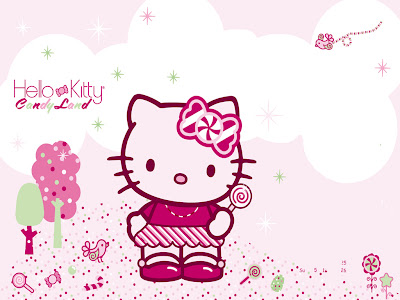 fondo de hello kitty con caramelos