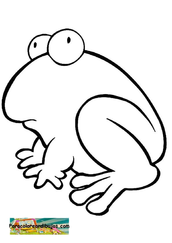 Para colorear dibujo de rana