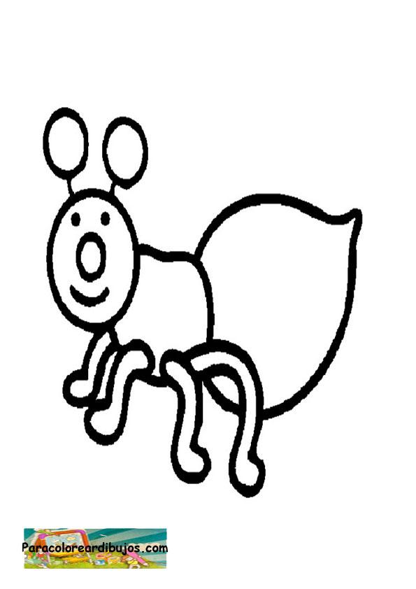Para colorear dibujo de hormiga