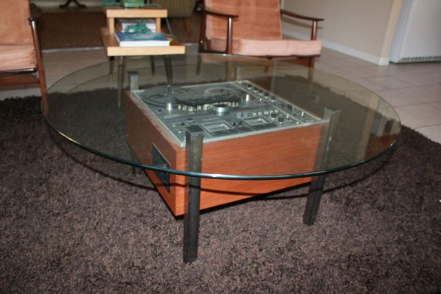 A Fews Years Back, My Wife Was Reading An Issue Of The Super Rad ReadyMade  Magazine And Found A Re Purposed Tape Deck Design Idea For A Table.
