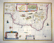 Carta geográfica do Brasil colonial