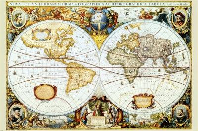 Mapa Mundi no tempo dos descobrimentos