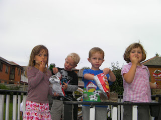 crisps on the pirate ship kids' attraction in the garden