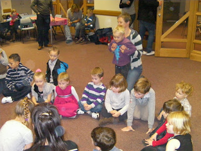 all line up at kid's birthday party