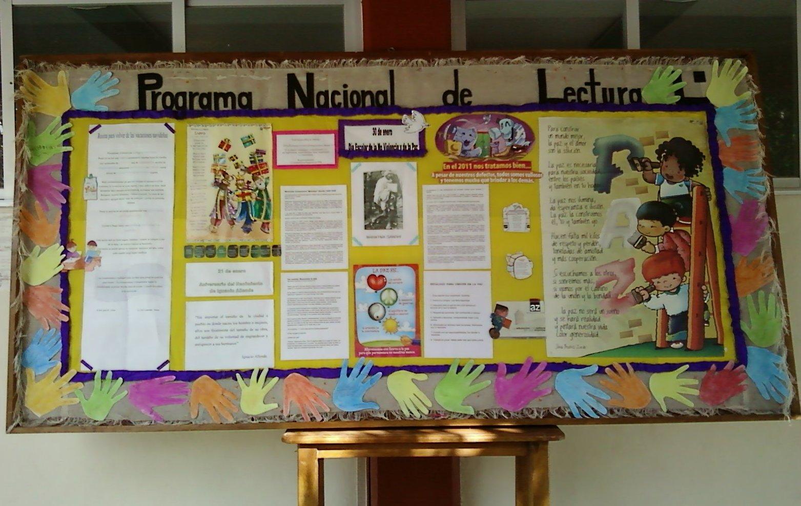 Programa nacional de lectura regi n monta a alta de for Como elaborar un periodico mural escolar